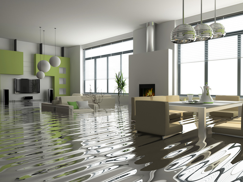 Flooded Living Room In Water Damaged Home Disaster411 Com